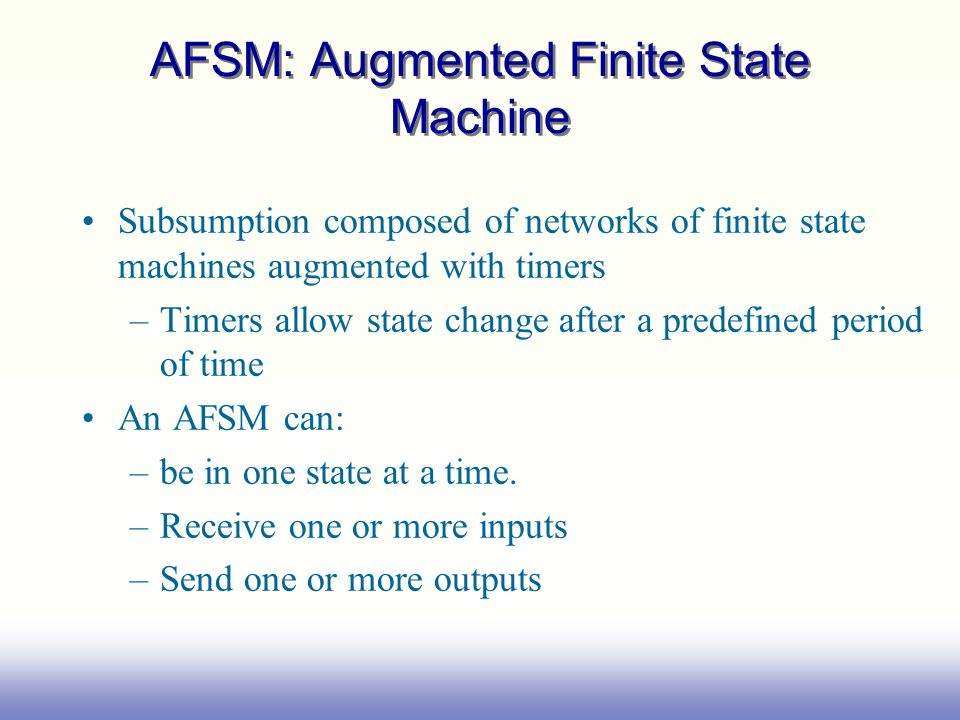 AFSM: Augmented Finite State Machine
