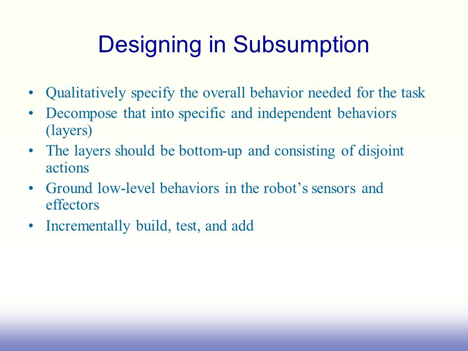 Designing in Subsumption