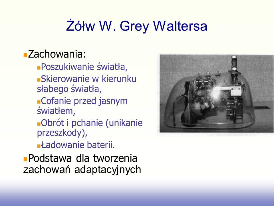 Żółw W. Grey Waltersa Zachowania: