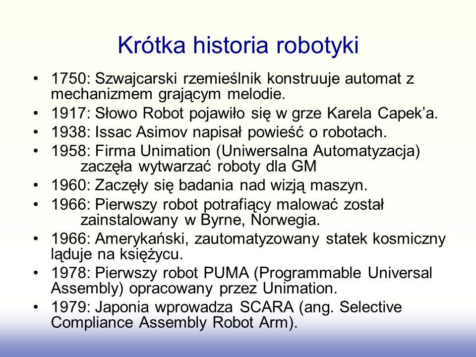 Krótka historia robotyki