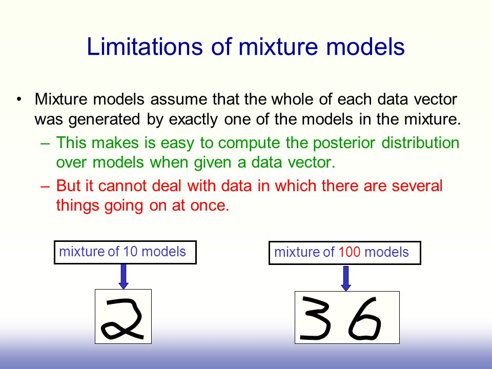 Limitations of mixture models