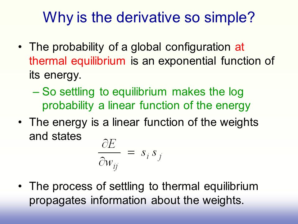 Why is the derivative so simple