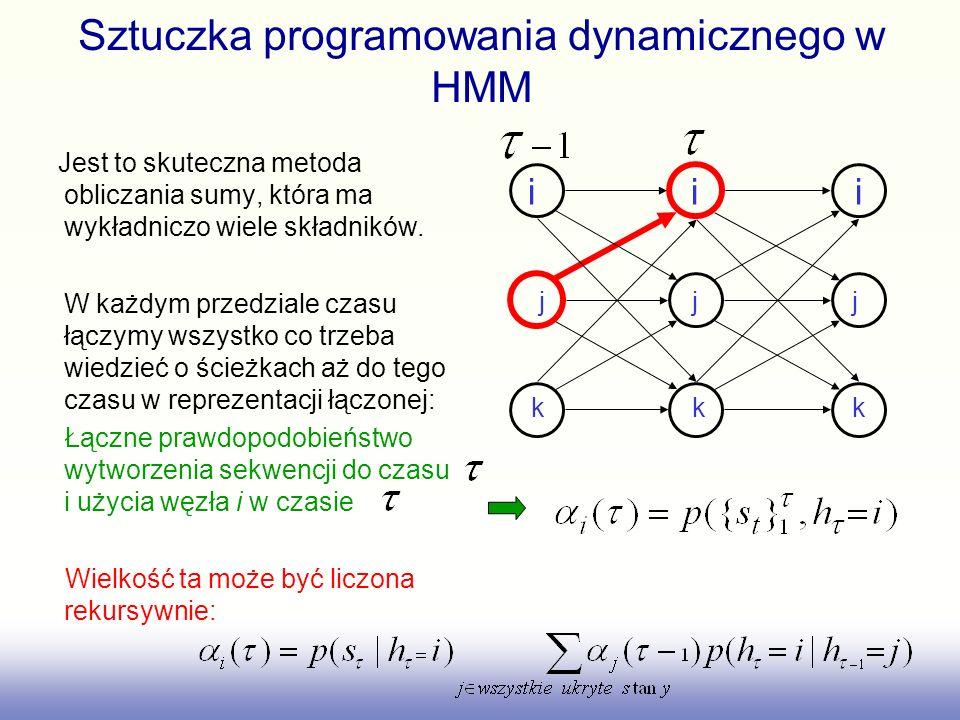 Sztuczka programowania dynamicznego w HMM