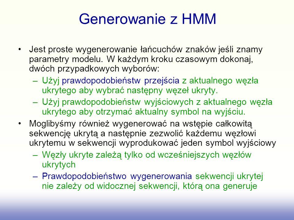 Generowanie z HMM