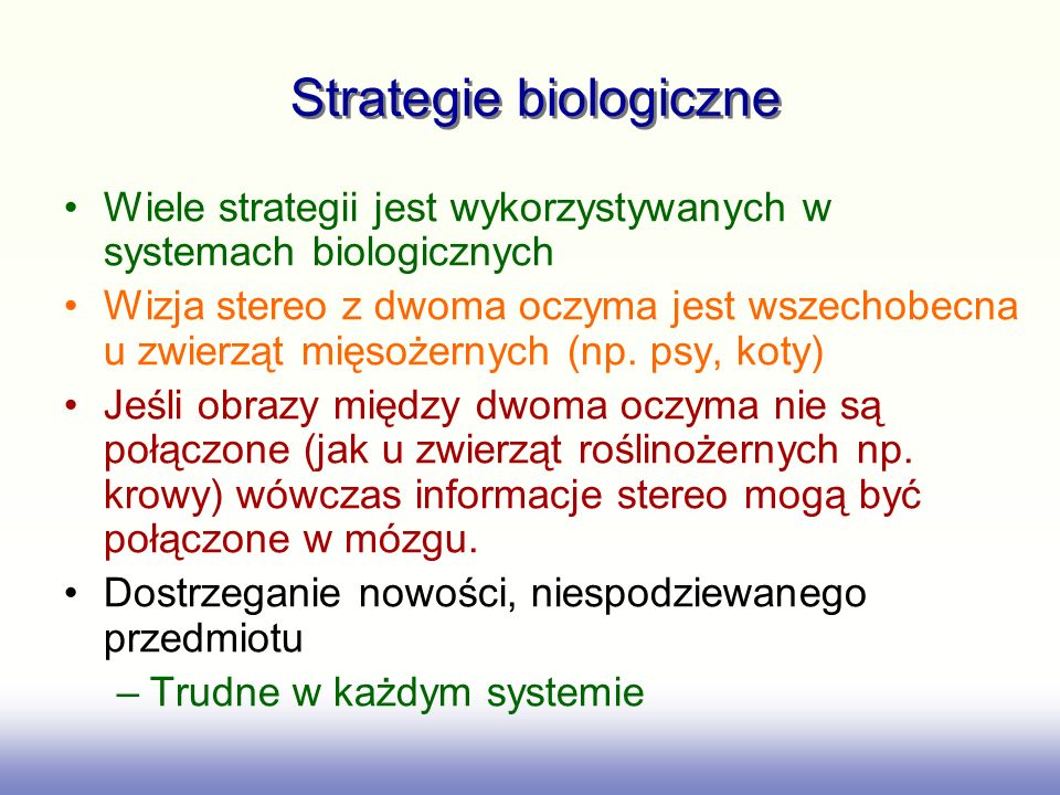 Strategie biologiczne