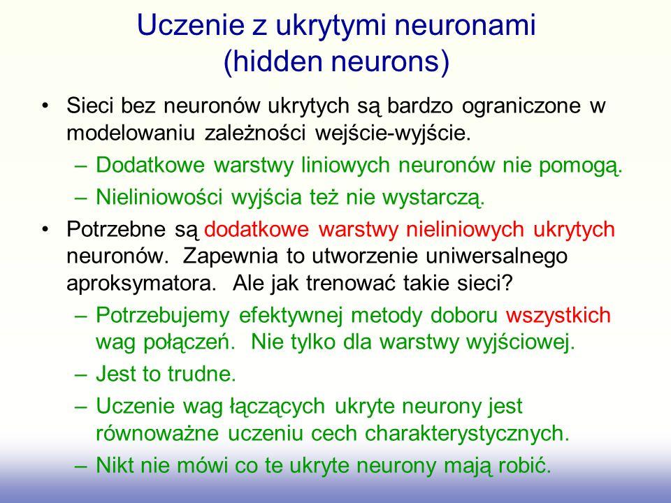 Uczenie z ukrytymi neuronami (hidden neurons)