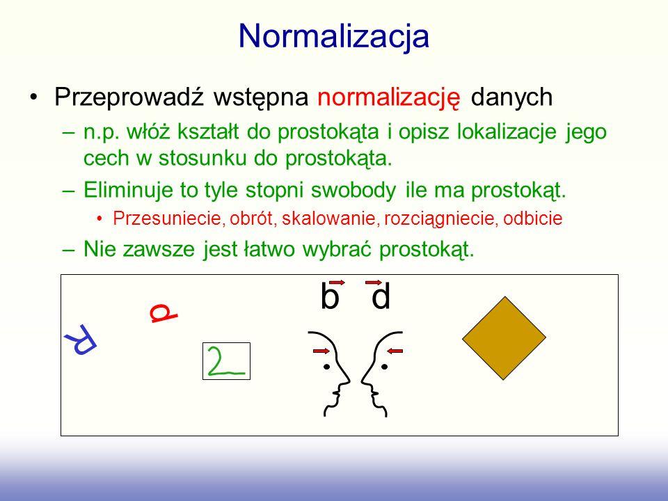 b d d R Normalizacja Przeprowadź wstępna normalizację danych
