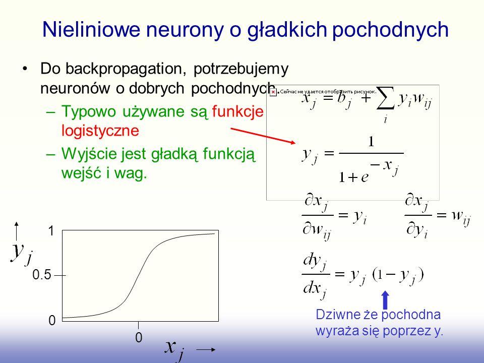 Nieliniowe neurony o gładkich pochodnych