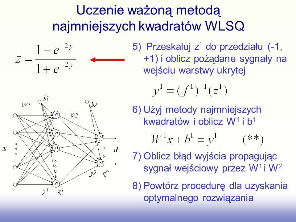 Uczenie ważoną metodą najmniejszych kwadratów WLSQ
