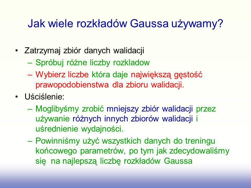 Jak wiele rozkładów Gaussa używamy