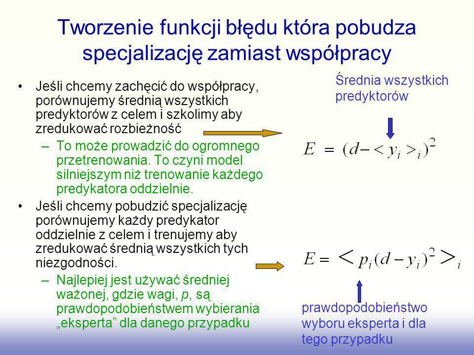 Tworzenie funkcji błędu która pobudza specjalizację zamiast współpracy