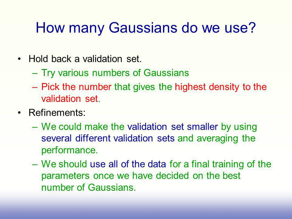 How many Gaussians do we use