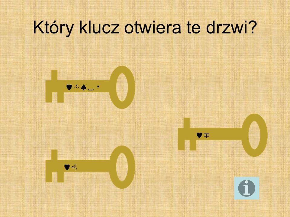 Który klucz otwiera te drzwi