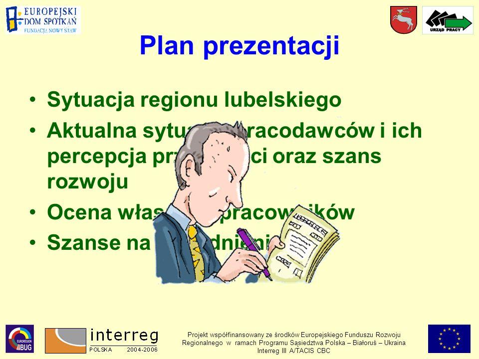 Plan prezentacji Sytuacja regionu lubelskiego