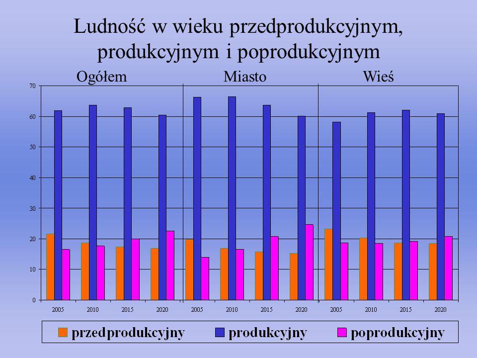 Ludność w wieku przedprodukcyjnym, produkcyjnym i poprodukcyjnym