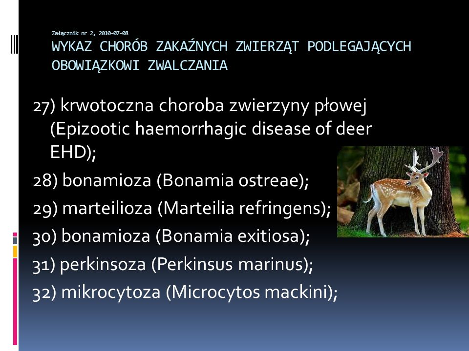 28) bonamioza (Bonamia ostreae);