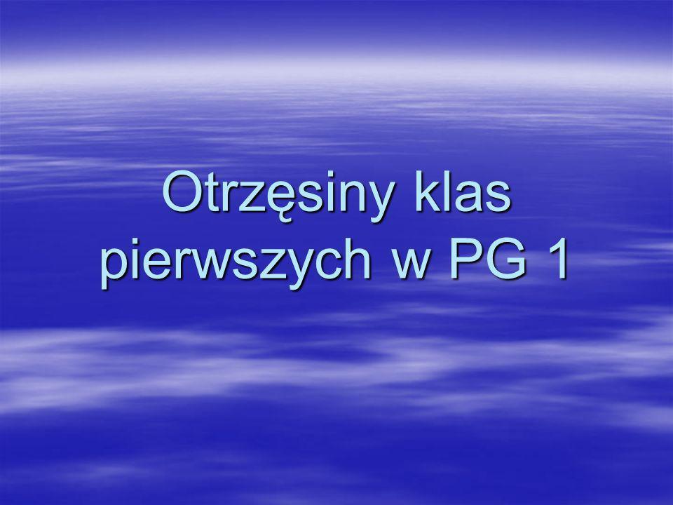 Otrzęsiny klas pierwszych w PG 1