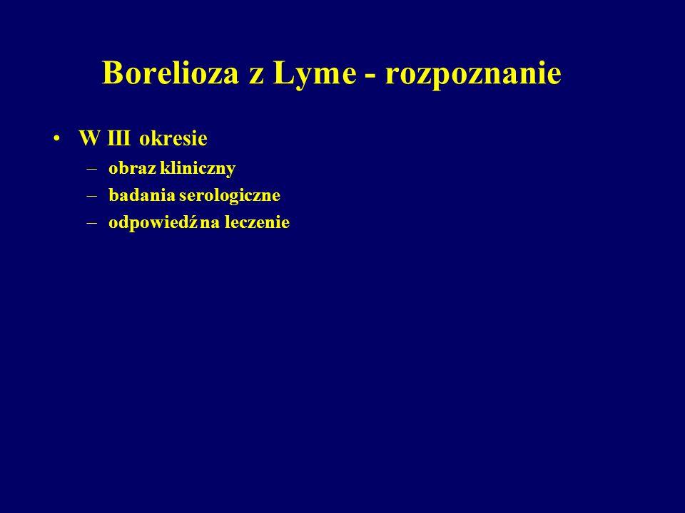 Borelioza z Lyme - rozpoznanie