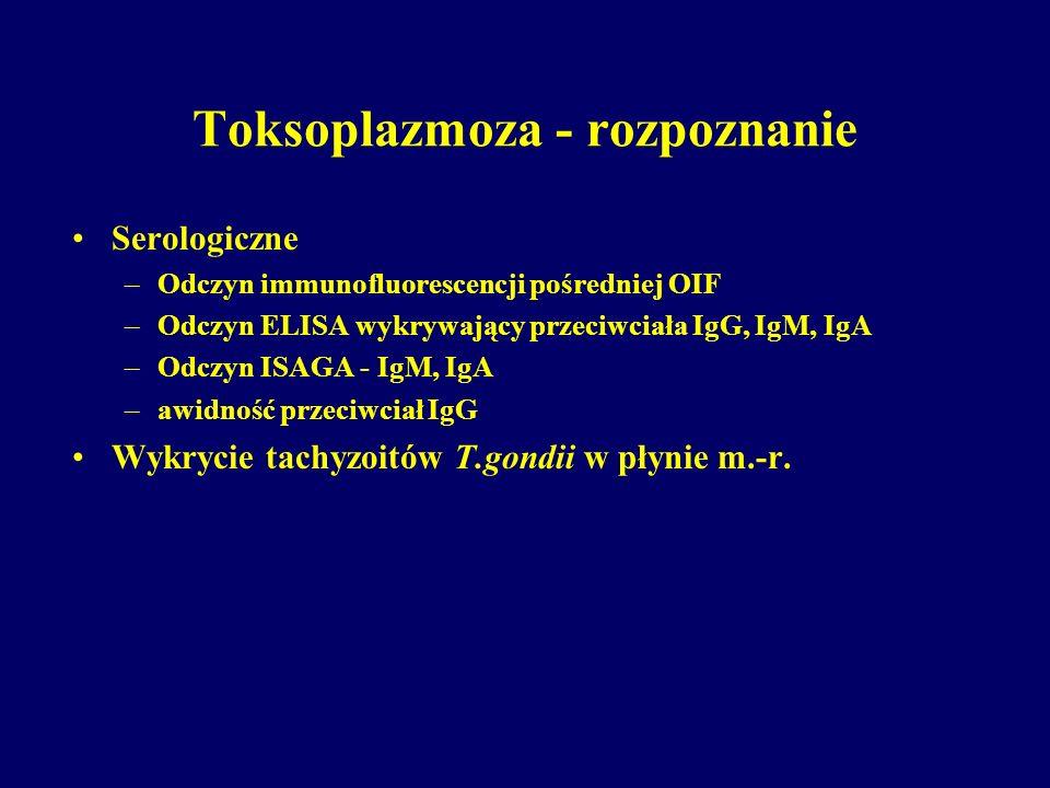 Toksoplazmoza - rozpoznanie