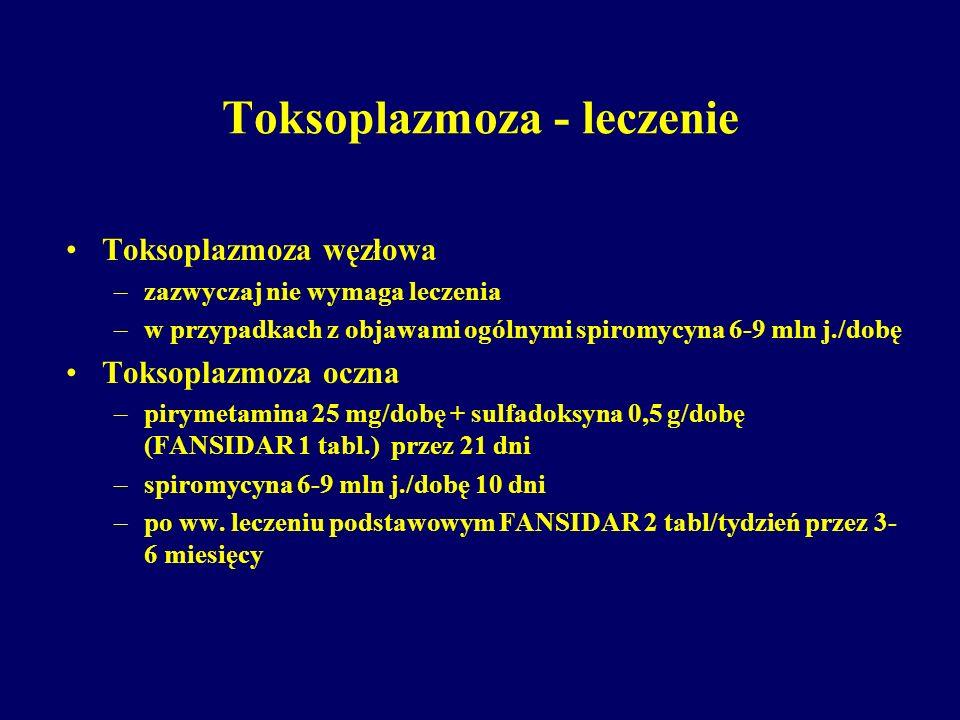 Toksoplazmoza - leczenie