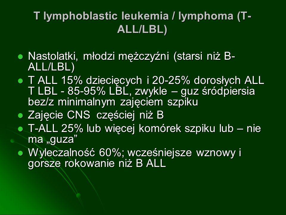 T lymphoblastic leukemia / lymphoma (T-ALL/LBL)