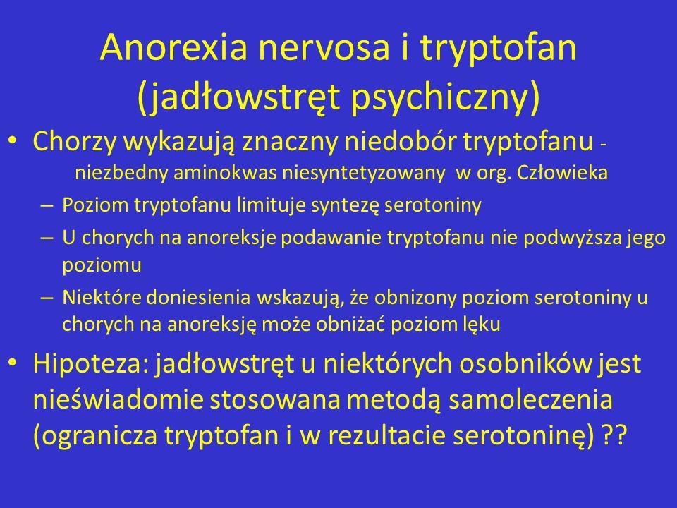 Anorexia nervosa i tryptofan (jadłowstręt psychiczny)
