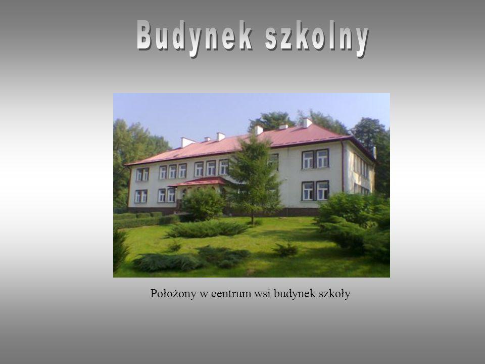 Budynek szkolny Położony w centrum wsi budynek szkoły