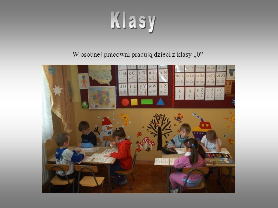 """Klasy W osobnej pracowni pracują dzieci z klasy """"0"""
