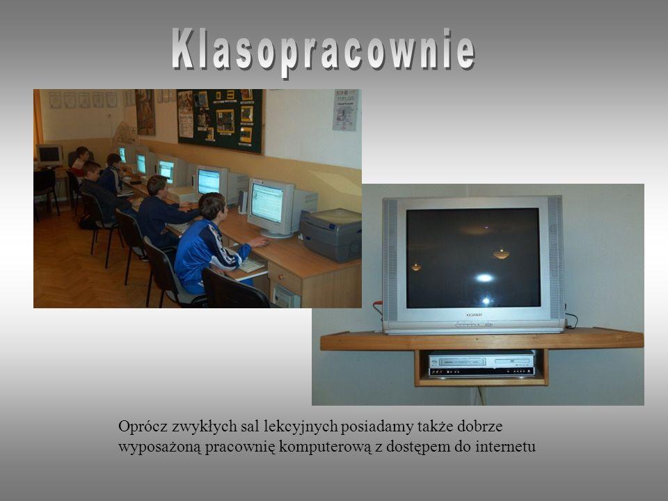 Klasopracownie Oprócz zwykłych sal lekcyjnych posiadamy także dobrze