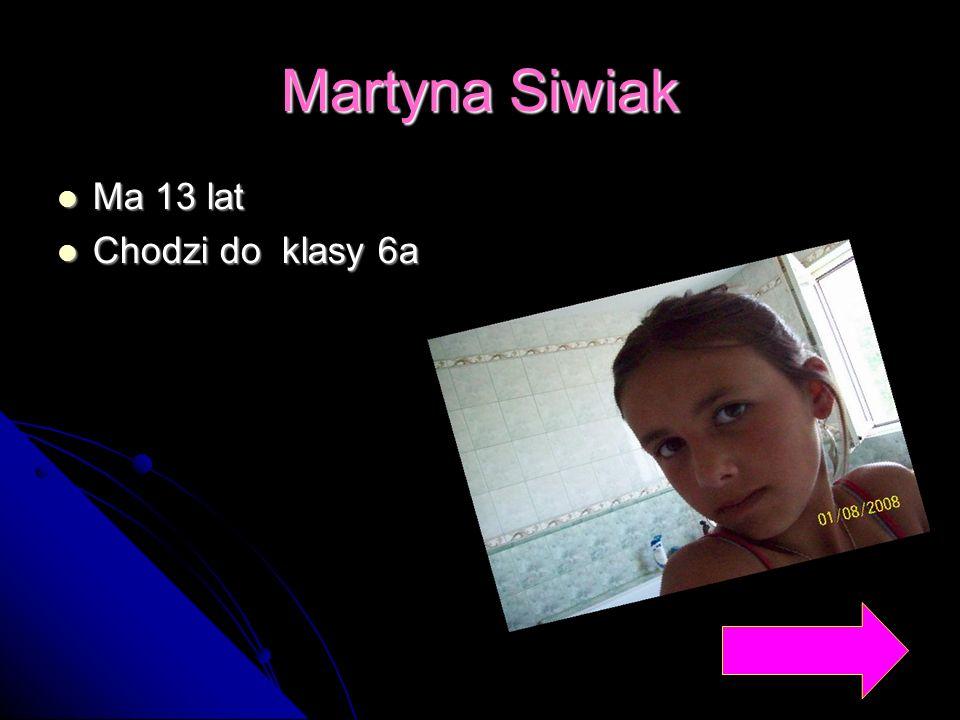 Martyna Siwiak Ma 13 lat Chodzi do klasy 6a