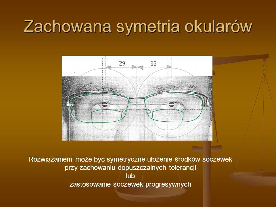 Zachowana symetria okularów