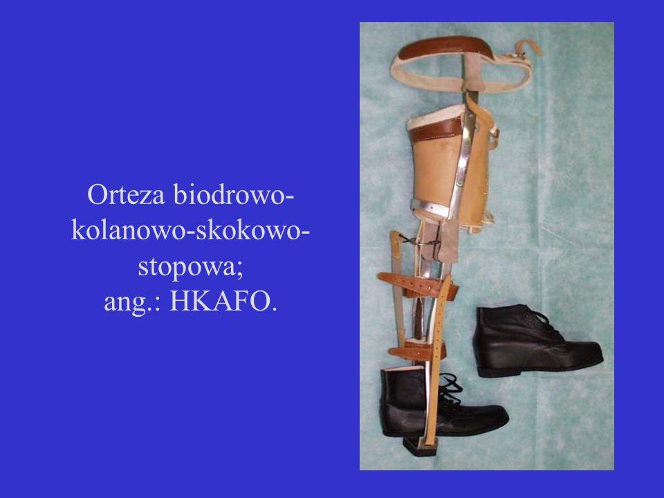 Orteza biodrowo-kolanowo-skokowo-stopowa; ang.: HKAFO.