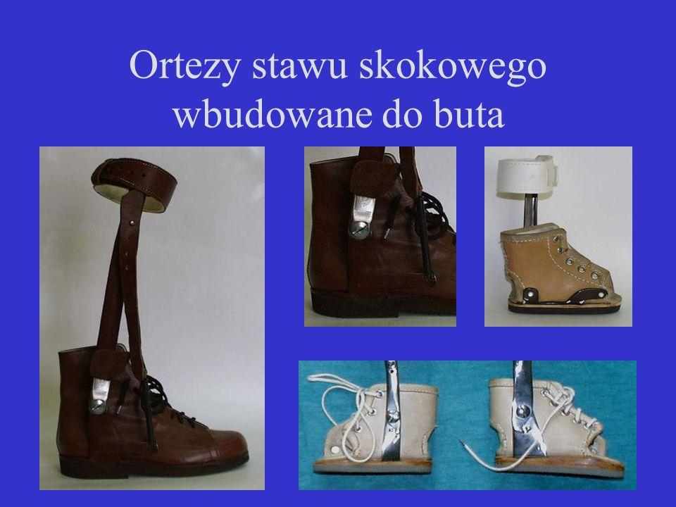 Ortezy stawu skokowego wbudowane do buta