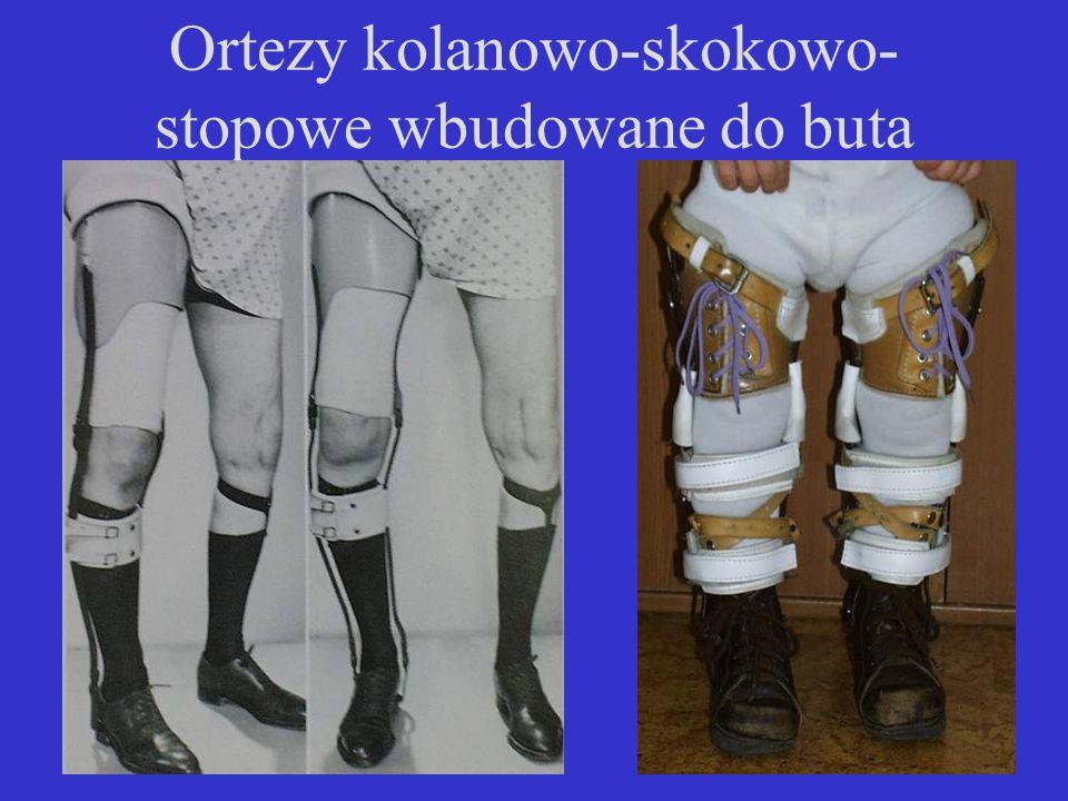 Ortezy kolanowo-skokowo-stopowe wbudowane do buta