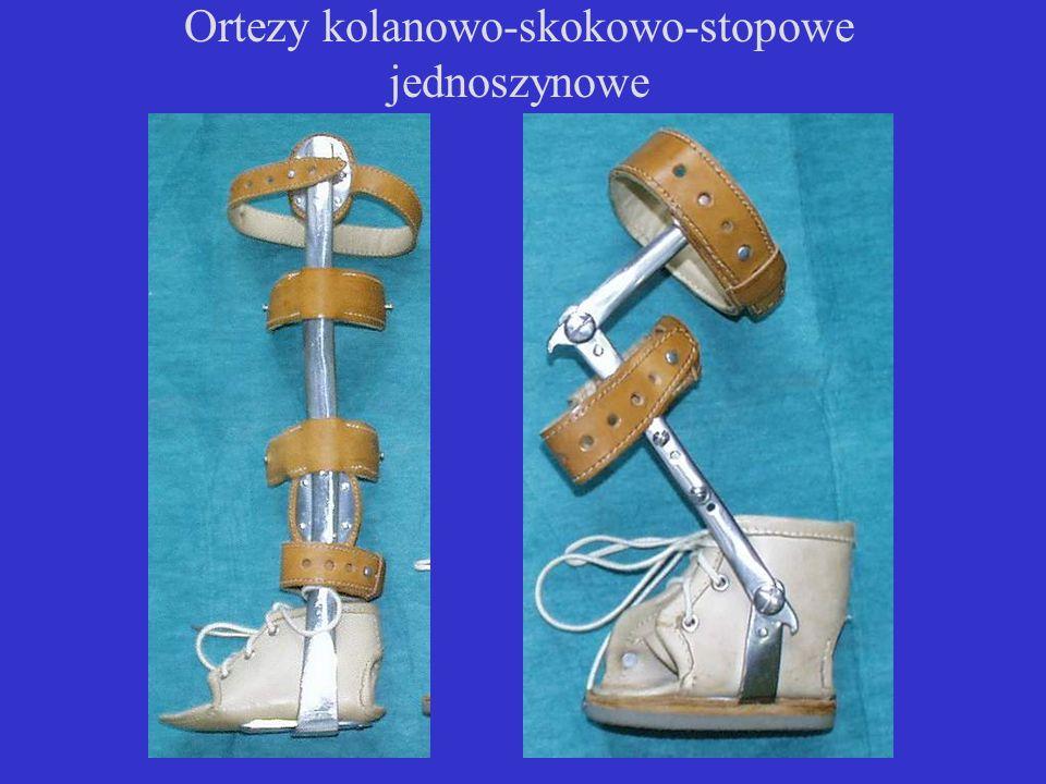 Ortezy kolanowo-skokowo-stopowe jednoszynowe