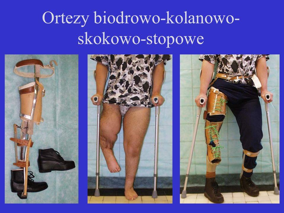 Ortezy biodrowo-kolanowo-skokowo-stopowe