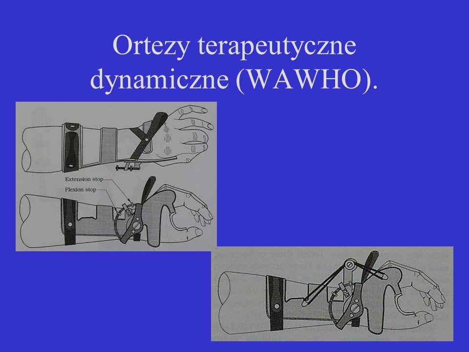 Ortezy terapeutyczne dynamiczne (WAWHO).
