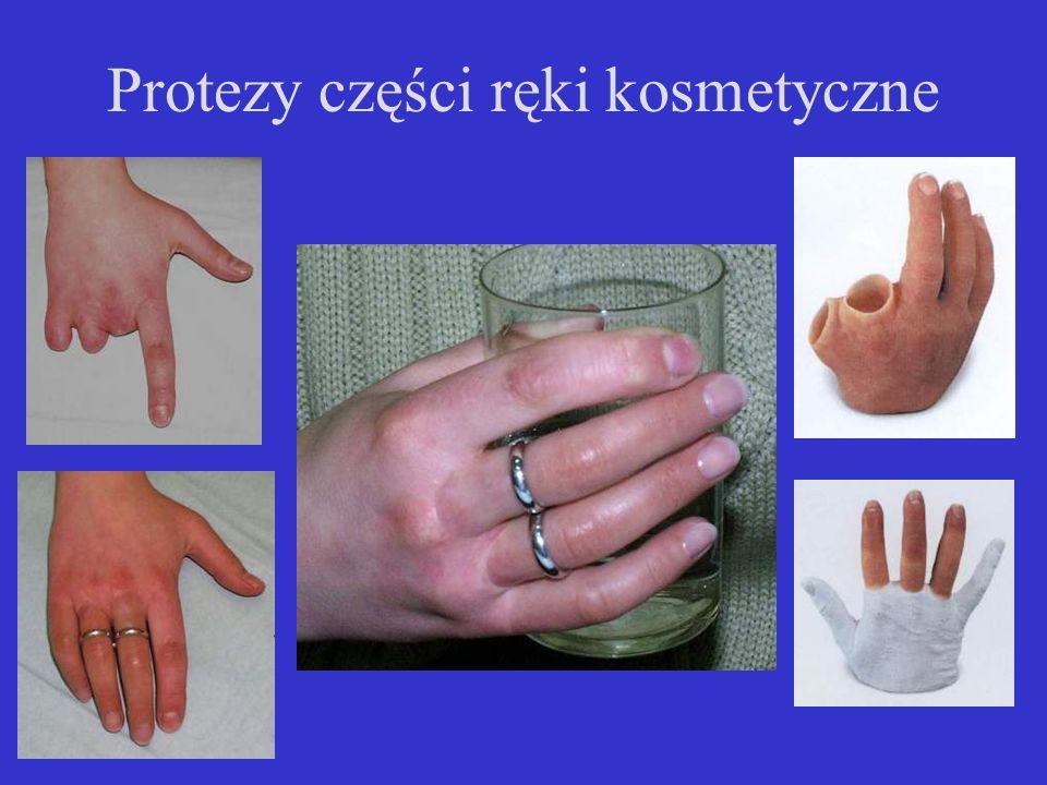 Protezy części ręki kosmetyczne
