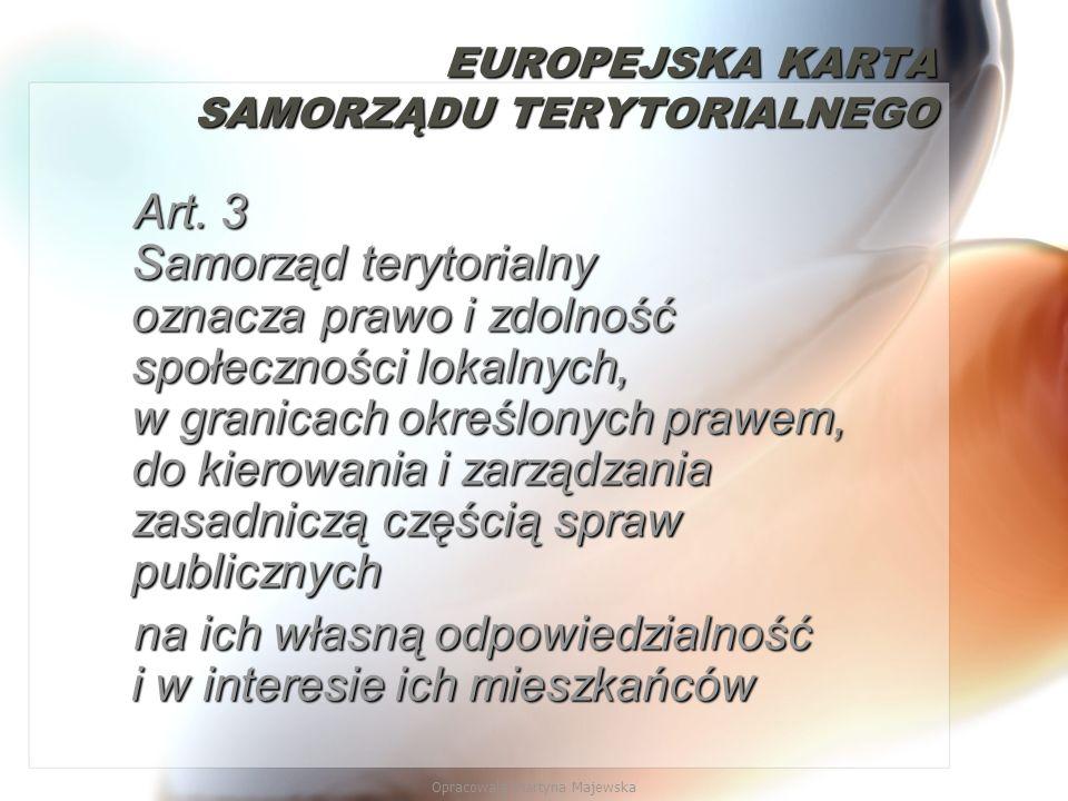 EUROPEJSKA KARTA SAMORZĄDU TERYTORIALNEGO