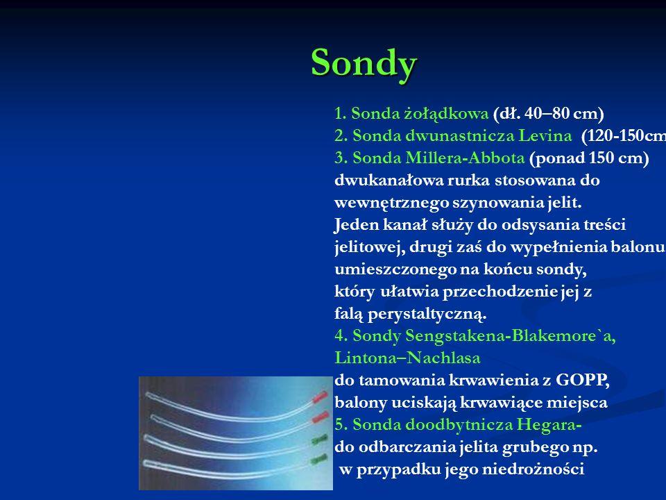 Sondy 1. Sonda żołądkowa (dł. 40–80 cm)