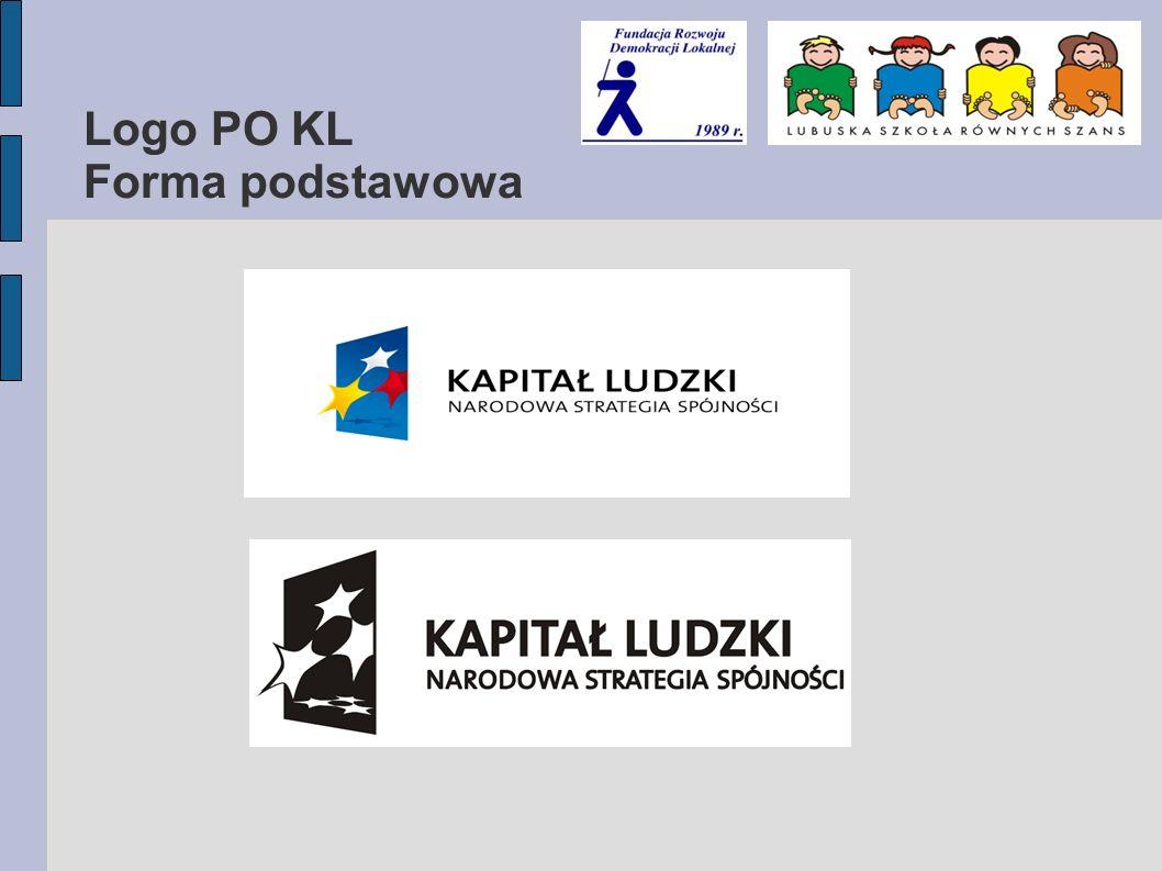 Logo PO KL Forma podstawowa