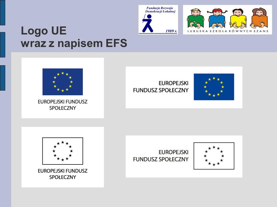 Logo UE wraz z napisem EFS