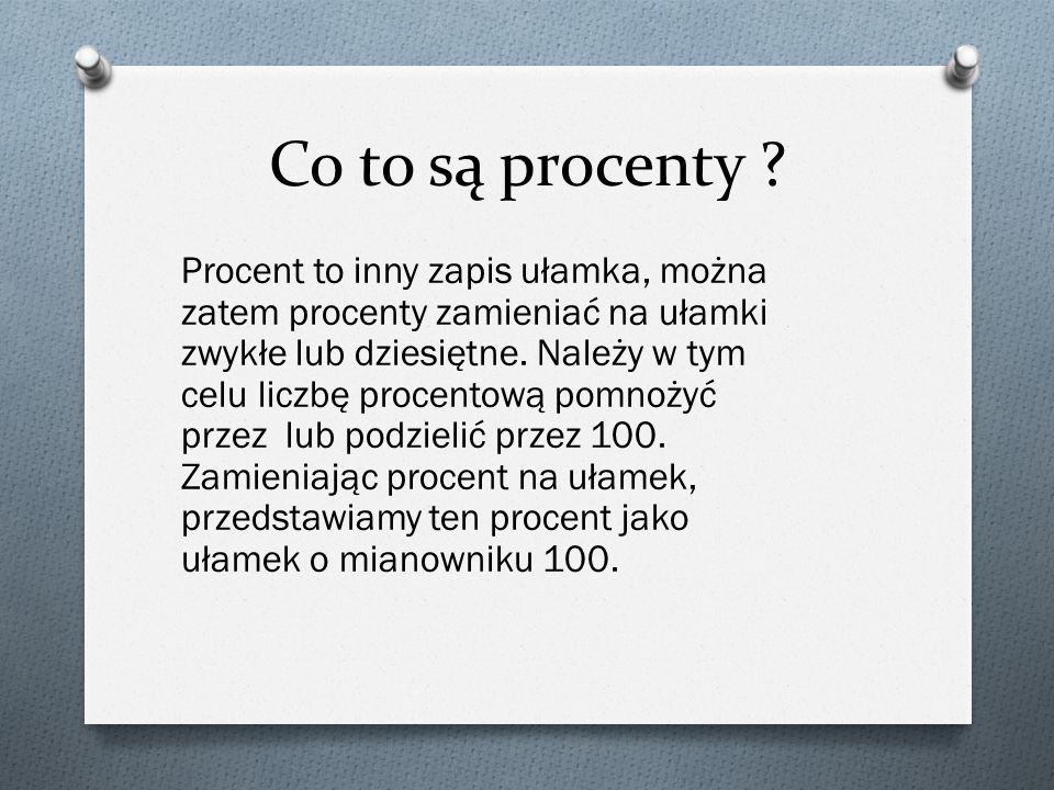 Co to są procenty