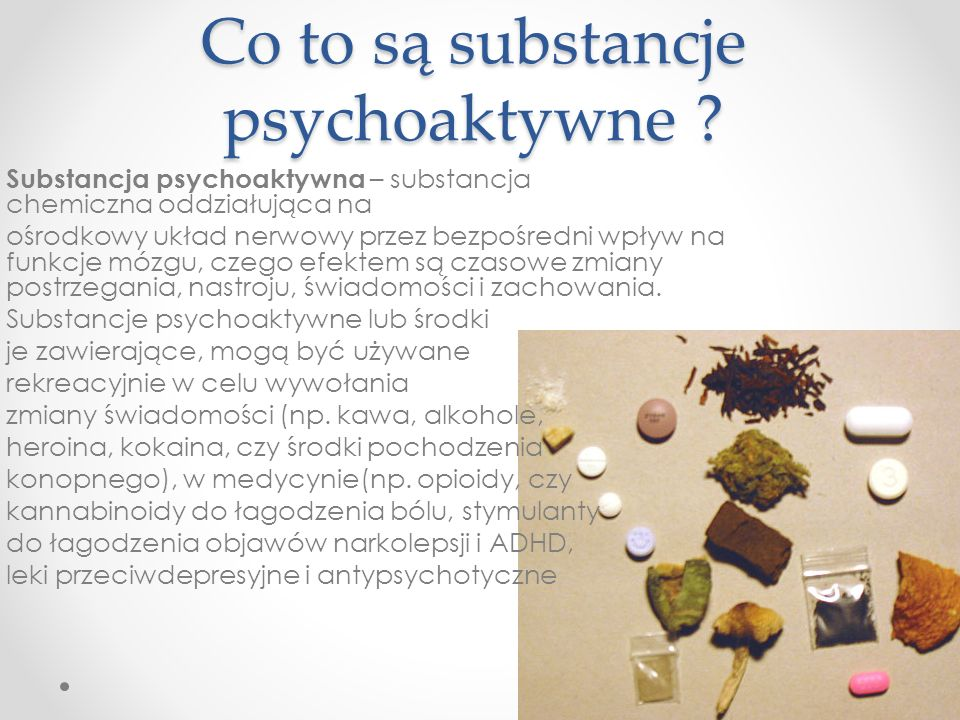 Co to są substancje psychoaktywne