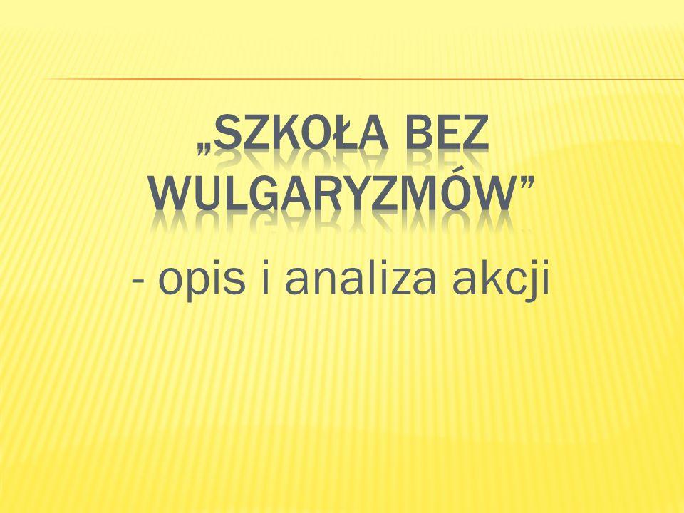"""""""Szkoła bez wulgaryzmów"""