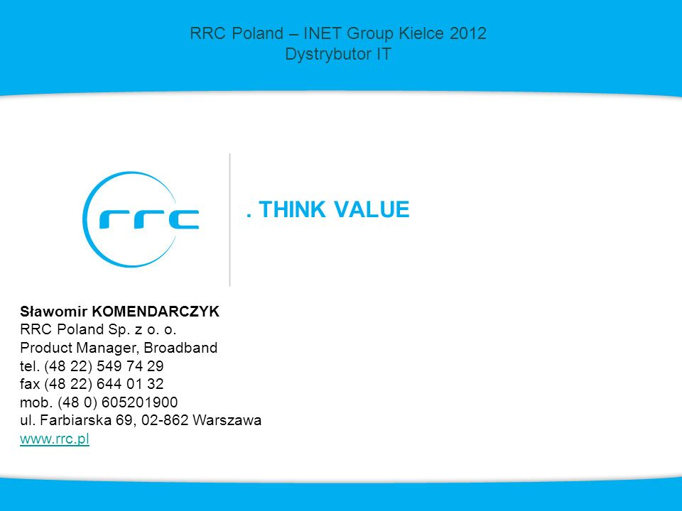RRC Poland – INET Group Kielce 2012