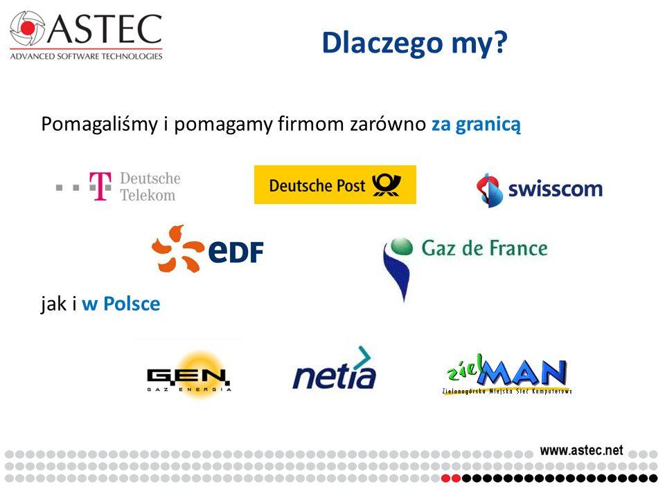 Dlaczego my Pomagaliśmy i pomagamy firmom zarówno za granicą jak i w Polsce