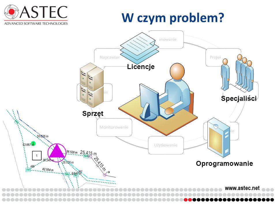 W czym problem Licencje Specjaliści Sprzęt Oprogramowanie Planowanie