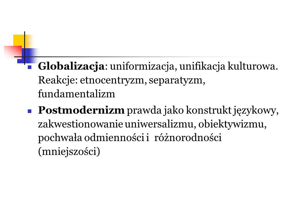 Globalizacja: uniformizacja, unifikacja kulturowa