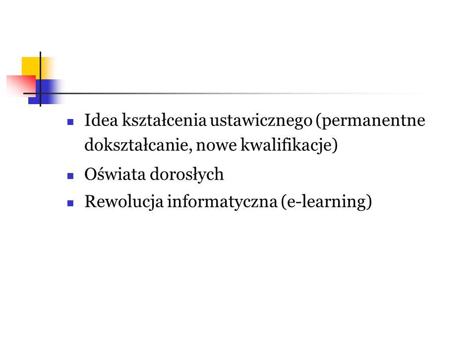 Idea kształcenia ustawicznego (permanentne dokształcanie, nowe kwalifikacje)